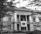 Flags of Germany, Japan, and Italy draping the facade of the Embassy of Japan on the Tiergartenstraße in Berlin (September 1940) from sampul nurse japan xxx lesbian sex
